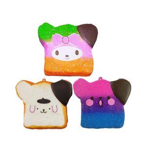 Kawaii lente Rebond Toast Expression Pain Squishy Jouets Simulé nourriture 10CM Jumbo Squishies Pincez enfants cadeau Décompression Toy
