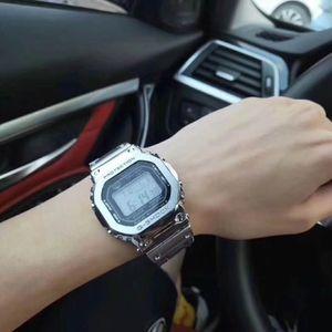 Migliore coperture della lega cinghia di vendita gamma quadrato acciaio IPG LCD luminoso serie sports visualizzazione orologi all'ingrosso