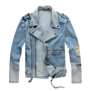 Balmain Mens способа куртки пальто Мужчины Женщины Джинсовый пальто вскользь Hip HopStylist куртки Мужская одежда Размер M-4XL