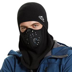 Balaclava capuche Masque de ski d'hiver face à vélo Crâne thermique en polaire étanche Masque visage avec évents