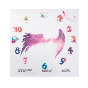 New Baby Milestone Blanket Newborn Photo Background Cloth Infants Photography Propsa0Po#