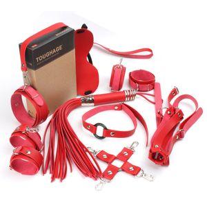 Dieci set Bondage restrizioni Sistema Sex Manette Manette per Caviglie Eye Mask accessori erotici insieme giocattoli del sesso per le donne degli uomini T200511