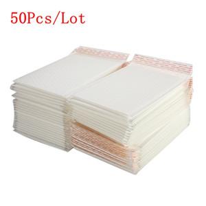 50Pcs / Lot Matte White Bubble Film busta diverse specifiche Schiuma Express Delivery Packaging List Bag