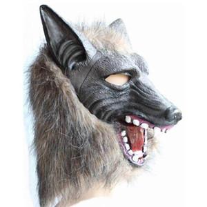 Halloween Wolf маска Голова животного Scary Creepy оборотень маска Косплея для партии изверг латексных реквизита ряженых