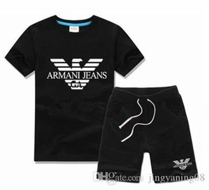 ragazzo Set per bambini T-shirt e pantaloni per bambini Set di cotone Neonate per ragazze Vestito estivo Tuta sportiva 10 pezzi / set 2-7T