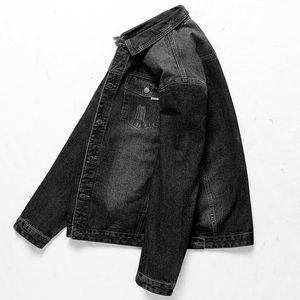 2019 новый твердый повседневная тонкий мужская джинсовая куртка плюс размер 8XL 7XL 6XL 5XL бомбардировщик куртка мужчины высокое качество Ковбой мужская Жан Жак