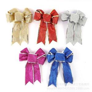 New Christmas Decoartive Bows Christmas Tree Decor Hanging Bowknot Pendant Drop Ornaments Wedding Xmas Party Supplies Navidad A