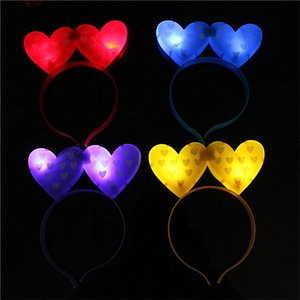 Head Hoop Two Peach Love Heart Luminescence Led Light Up Toys Horquilla Flash Of Light Hair Hoop Vocal Concert Party Artículos 1 6hp p1