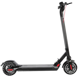 [Inteligente reloj Bundle AMAZFIT GTS] KUGOO ES2 plegable Scooter eléctrico 350W Motor Pantalla LED Max 25 KM / H 8,5 pulgadas Neumáticos - Negro