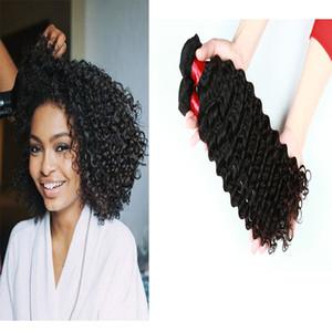 Jerry Curly Hair Extensions 3 Human Bundles ou 4 Bundles Brésil Malaisie Virgin Indian Natural Hair Couleur 8-28 pouces