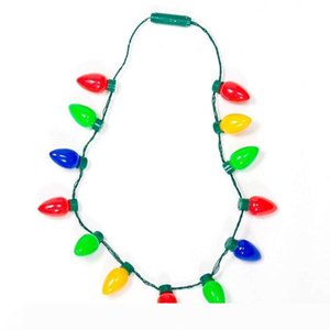Multicolor Flashing Christmas Bulb LED Necklace Light Up Party Favors Best Party Lights Necklace Christmas Decorations 12 bulbs 13 bulbs