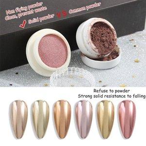 Glitter For Nails Holographics Powder Silver Polishing Chrome Pigments Nail Art Decorations Laser Dazzling Dust