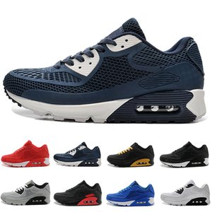 Nike Air Max 90 2018 New Cushion 90 KPU Hommes Femmes Chaussures de sport de haute qualité classique Baskets Pas Cher 11 couleurs Chaussures de course à pied Taille 36-46
