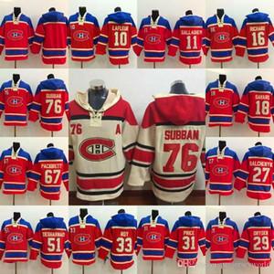 76 P K Subban Montreal Canadiens Jersey 31 preço 67 Pacioretty 11 Gallagher 27 Galchenyuk 18 Savard 29 Dryden arte Jerseys capuz