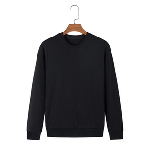 Mens Fashion Solid Hoodies Black Casual Sweatshirts Brief Women Autumn Winter Hoodies Pullovers Long Sleeve Tops