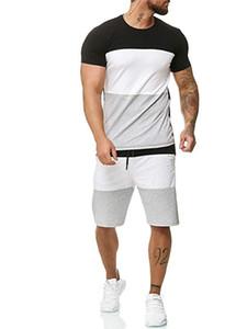 Survêtements Hommes Couleur assortie Multicolores Grande taille Fitness en plein air Jogging Casual Style Été Shorts 2 Pièce Survêtement Survêtement