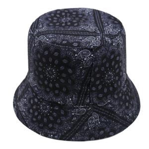 Hip Hop Cashew Blumen Hat Schwarz Rot Farbe Paisley Fischen Caps Bucket Hats Bonnie Herren Bob Gorras Casquette Außen