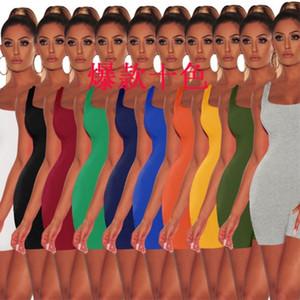 Desinger Femmes Sexy Jumpsuit Romper Bodysuit moulante Onesies profond col V Pantalon Débardeur sans manches Sporting Costume Feminino Combinaions 8839