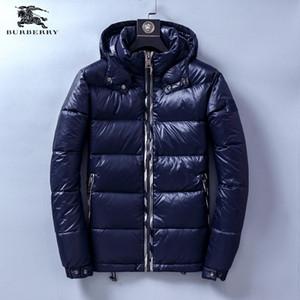 Мужские куртки Конструкторы Осень Зима Толстые пальто черный вниз пальто Zipper тавра Coat Спорт на открытом воздухе куртки азиатского размера 19ss Winter