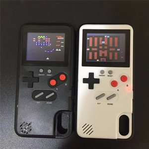 Novos casos de telefone gameboy tetris jogar consola de jogo blokus capa clássico à prova de choque proteção case para iphone x 6 6 s 7 8 mais embalagem de varejo