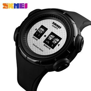 SKMEI 패션 야외 스포츠 시계 남자 석영 손목 시계 50M 방수 디지털 디스플레이 남성 시계는 masculino 1487 relogio