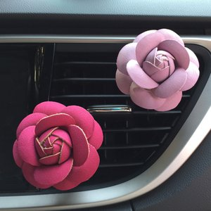 Rose Car Air Humidifier Essential Oils Diffusers Vehicle Air Purifier Car Vents Clip Perfume Decoration Accessories Auto Aroma Car Fragrance