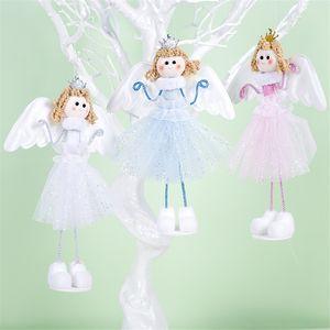 Новый Год Ноэль Рождественский Ангел Девушка Ткань Пузырь Куклы Елочные Украшения Повесить Подвеска Украшение Партии для Дома
