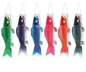 Renkli Japon Stili Sazan Çıtası Windsock Balık Bayrak Ana Parti Dekorasyon Bayrak Saten Su geçirmez SquidToy Koinobori Dış Dekorasyon