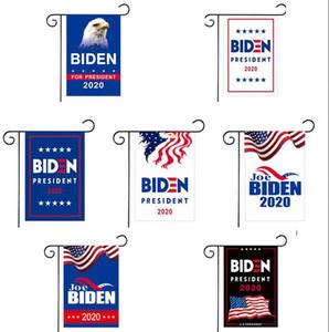 2020 Président Biden Drapeau de jardin Soutien Biden extérieur Cour Drapeau Décoration 30 * 45cm Sans Flagpole Amérique flag LJJK2103