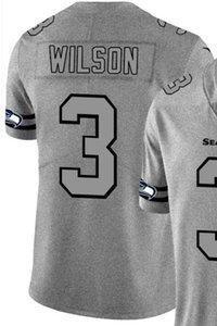 2020 Mann Seattle 3 Jersey Hemd Gesticktes und 100% genäht Hanf Ash Throwback Limited Jersey des amerikanischen Fußballs Jersey-