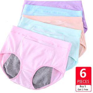 LANGSHA 6 Pz / lotto A Prova Di Perdita Mestruale Periodo Mutandine Intimo Donna Pantaloni Fisiologici Slip In Cotone Senza Cuciture Slip Femminili SH190906