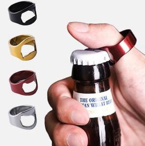 الفولاذ المقاوم للصدأ المعادن إصبع الإبهام RING زجاجة بيرة فتاحة بار أداة حانة