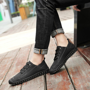 NEW Men Casual Sapatos Denim Lace-Up Men Casual Shoes respirável Masculino calçado Primavera Outono Sneakers Tamanho 38--46!