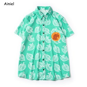 Ainiel adulto Animal Crossing niños trajes de cosplay shirt camiseta camisetas Ropa de Tom Nook camiseta de manga corta Tops Disfraz