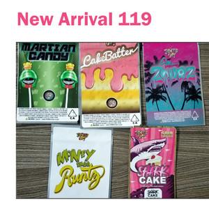 Yeni Geliş Runtz Mars Şeker CakeBatter Miami Zourz Para Bagg Sharklato Gold Edition Köpekbalığı Kek Kuru Ot Çiçek Mylar Çanta Packaging