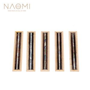 NAOMI 5Pcs Classical Guitar Bridge Tie Blocks 메이플 속지 (로즈 우드 + 쉘) 우드 프레임 시리즈 기타 부품 NA - 04 신품
