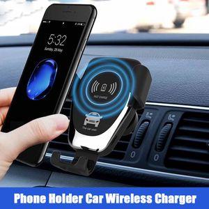 10 Вт быстрое автомобильное беспроводное зарядное устройство кондиционер вентиляционные зажимы Держатель телефона автоматическая индукция Qi беспроводное автомобильное зарядное устройство для iPhone Samsung Huawei