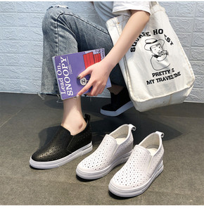 New loafers female han edition increased within the small white shoes leather shoes leisure end of the spring and autumn period and the thic