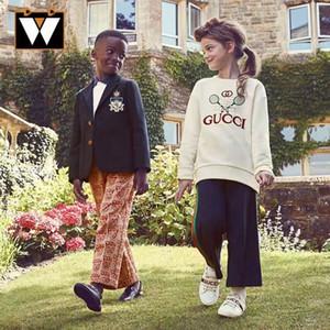 2020 Pantalons Printemps Automne enfants rayé Kid taille élastique princesse école Pantalon Mignon Sport Filles Larges Leg Pants