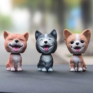 جديد اهتززت رئيس حلية لطيف الكلب الراتنج الديكور هدية للسيارة، ويهز رأسه في البيت غرفة CSL