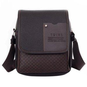 JHD-Pu Leather Men Messenger Bag Briefcase shoulder crossbody handbag business bag casual men's travel