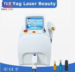 Portable Q Interruttore di rimozione ND-YAG tatuaggio del laser macchina di bellezza con 532nm 1064nm 1320 nm per la casa e il salone