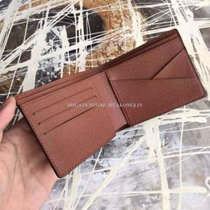 Breve Portafoglio titolari uomini borsa dell'uomo carta della scatola originale nuovo modo di promozione nuovo arrivo