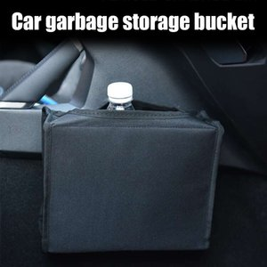 Portátil Car Trash Can Veículo Litter Garbage Bag Organizador Car Acessórios B99