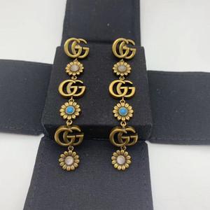 роскошные дизайнер ювелирных женщины серег винтажных стразы дизайнер из бисера серьги для свадьбы цветка дизайнера серьги наилучшего качества
