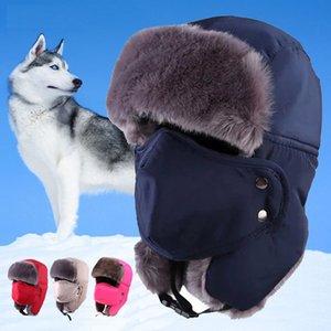 JUN JUN.W Cappelli da sci termici invernali antivento all'aperto Lei Feng Escursionismo Cappellini russi con maschere Bomber per donna Uomo 6 colori