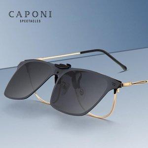Clip CAPONI conducción Negro En marco de los vidrios para los hombres Accesorios Ultraligero gafas polarizadas Anti UV gafas de sol de los hombres CP3190 Clip