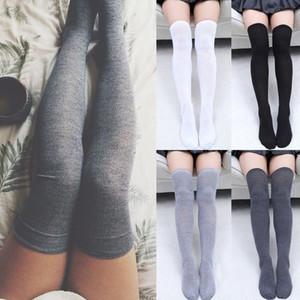 Женские носки Чулки Теплые бедра высоко над гольфами Длинные хлопчатобумажные чулки Сексуальные чулки