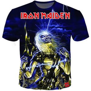 Fahion-Sommer-T-Shirt Iron Maiden Männer Kurzärmeliges Eddie T Fans Jubel 3D-Druck-T-Shirts Männer Frauen Paare T-Shirt S-5xl 13 Styles