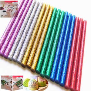 glitter hot melt glue sticks Hot Glue Gun Sticks mini colored for DIY Art Craft Woodworking 11mmx100mm 7mmx200mm